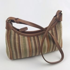 Fossil Multi Color Woven Shoulder Bag Small